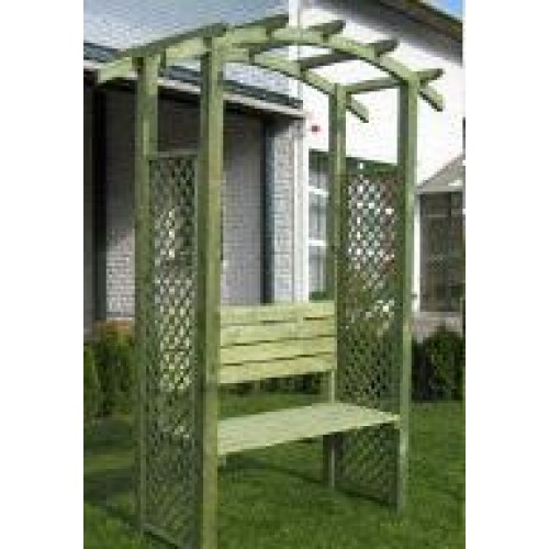 Treated Timber Garden Arbour (1.2m x 2.4m x 0.6m)