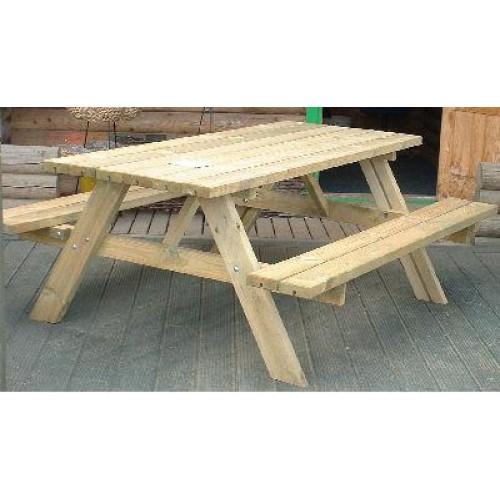 Heavy Duty 6 Seater Picnic Table