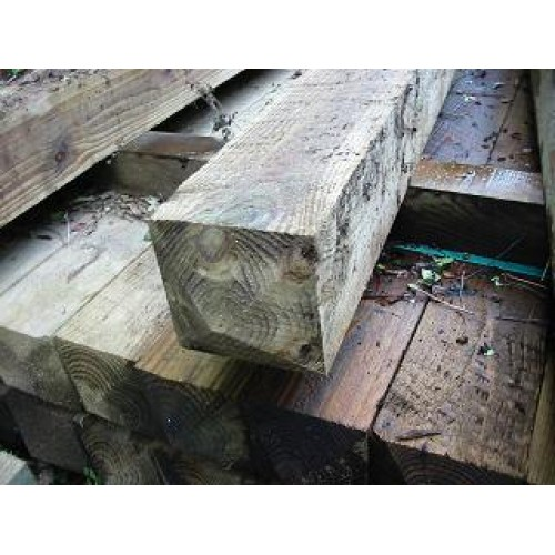 2.1m x 125mm x 125mm treated softwood post
