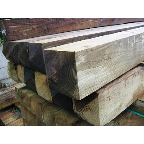 2.4m x 150mm x 150mm treated softwood post