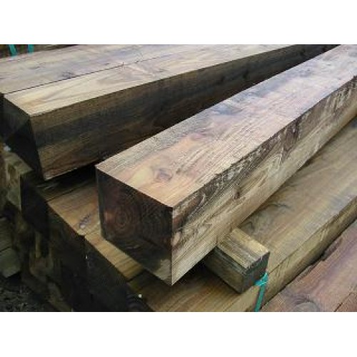 2.1m x 175mm x 175mm treated softwood post