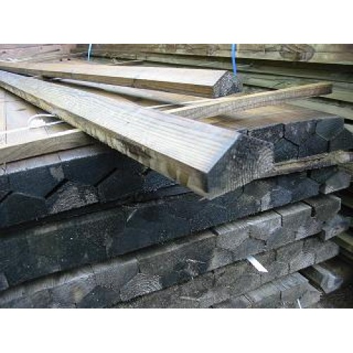 3.6m x 63mm x 38mm treated softwood Weather Capping