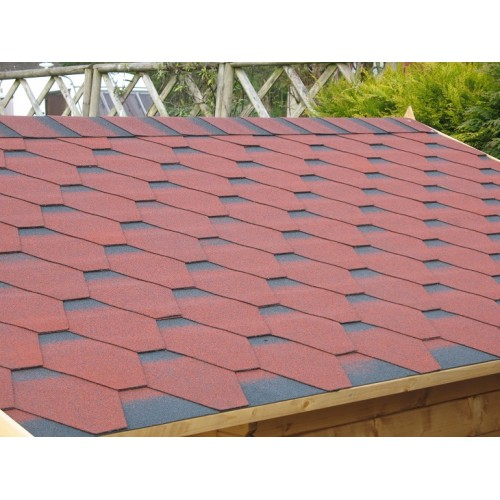 Bitumen roof shingles red