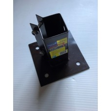 Bolt down post support 50MM X 50MM with clamp grip