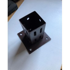 BOLT DOWN POST SUPPORT 75MM X 75MM WITH wedge GRIP