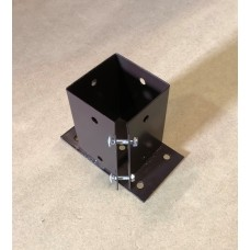 Bolt down post support 100mm x 100mm clamp grip