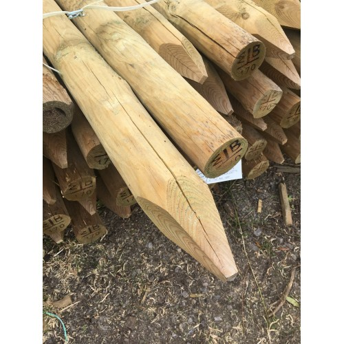 1.8m x 50-75mm Rustic Round Stake