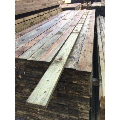 3.6m x 100mm x 22mm treated softwood board