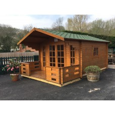 Garden Log Cabin:Alpine 3.8 x 3.8 (12'6'' x 12'6'')